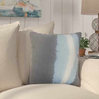 Merganser Stripe Cotton Throw Pillow Color: Blue