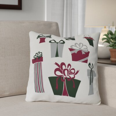 Present Time Outdoor Throw Pillow Size: 18 H x 18 W, Color: White