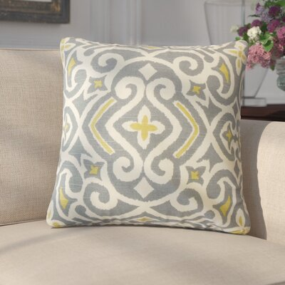 Amott Damask Cotton Throw Pillow Color: Graystone