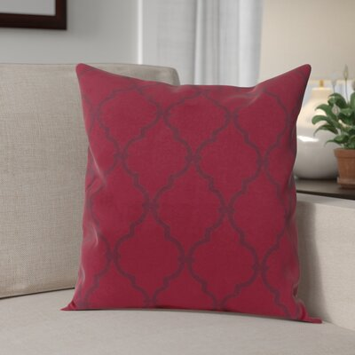 Reuter Trellis Throw Pillow Size: 20 H x 20 W, Color: Rio Red