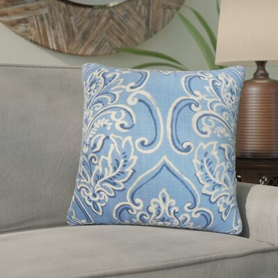 Wendi Floral Cotton Throw Pillow Color: Blue