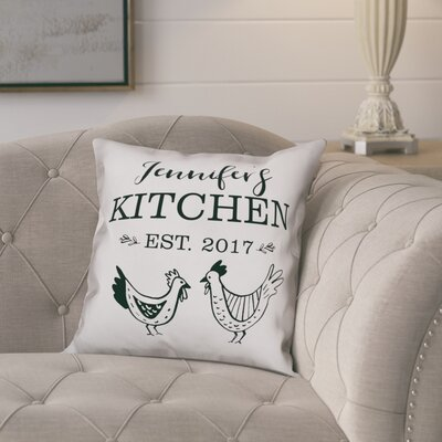 Prescott Kitchen Roosters Throw Pillow