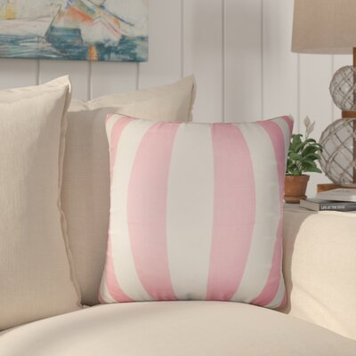 Staples Stripes Cotton Throw Pillow Color: Baby Pink