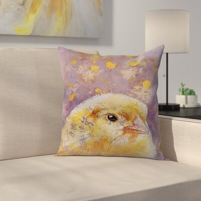 Michael Creese Chick Throw Pillow Size: 18 x 18