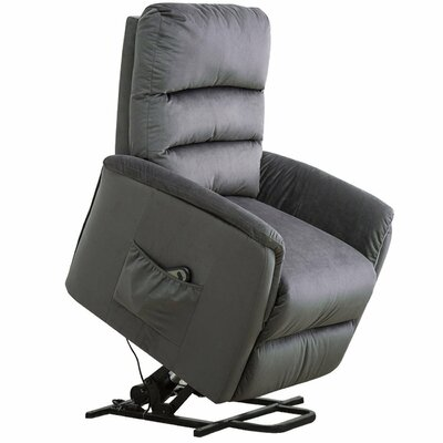 Durgin Lift Contemporary Power Recliner Upholstery: Blue