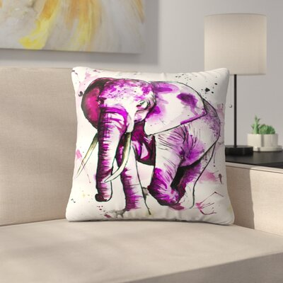 Elephant Throw Pillow Size: 14 x 14