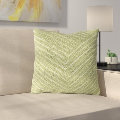 Ponton Diagonal Stripe Throw Pillow Color: Green