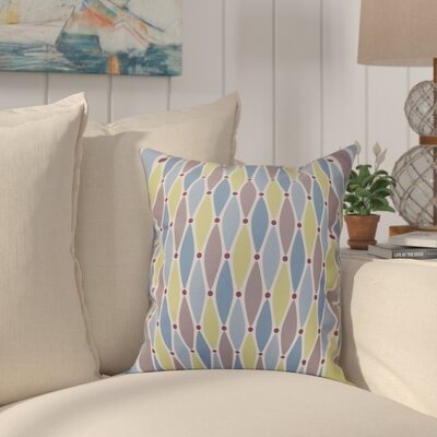 Boubacar Wavy Splash Geometric Print Outdoor Throw Pillow Size: 20 H x 20 W, Color: Blue