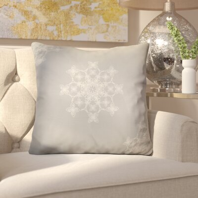 Decorative Holiday Geometric Print Throw Pillow Size: 18 H x 18 W, Color: Light Blue