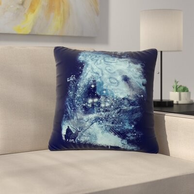 Frederic Levy-Hadida Forest Spirit Rising Fantasy Outdoor Throw Pillow Size: 16 H x 16 W x 5 D