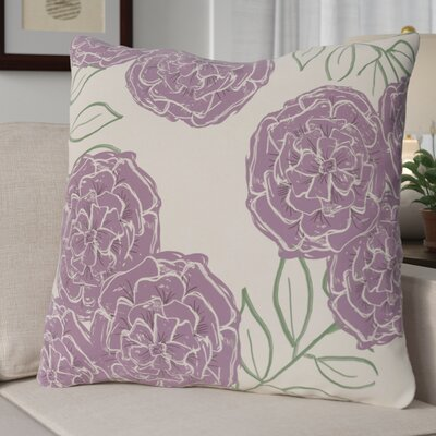 Broad Brook Mums the Word Floral Print Outdoor Pillow Color: Sachet, Size: 18 H x 18 W x 1 D