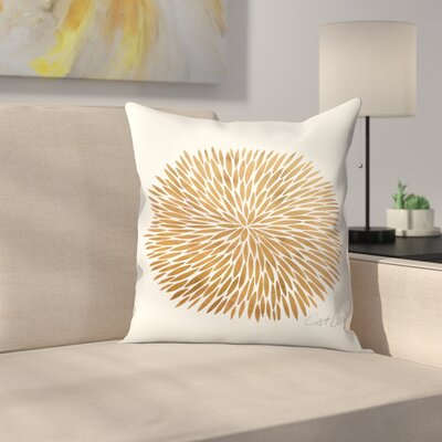 Burst Throw Pillow Size: 18 x 18