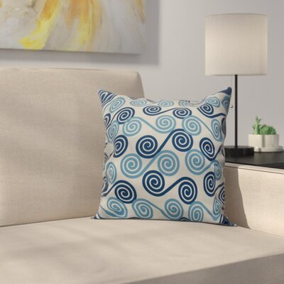 Nikkle Rip Curl Throw Pillow Size: 20 H x 20 W, Color: Blue