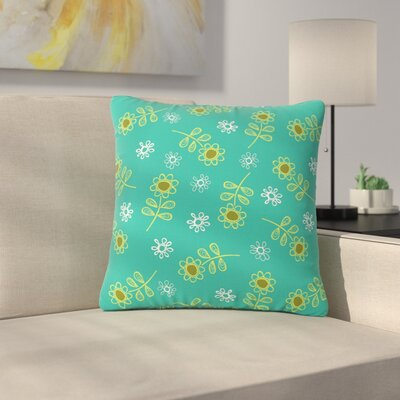 Holly Helgeson Ditsy Daisy Outdoor Throw Pillow Size: 18 H x 18 W x 5 D