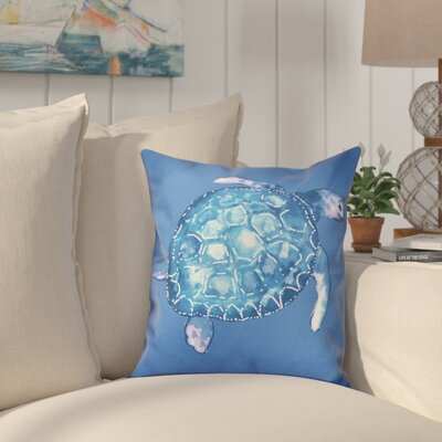 Granata Sea Turtle Animal Print Throw Pillow Size: 26 H x 26 W, Color: Blue