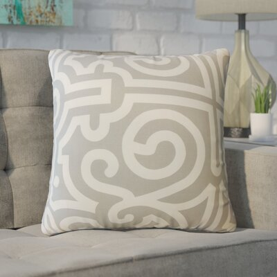 Wethington Geometric Down Filled 100% Cotton Throw Pillow Size: 18 x 18, Color: Mineral