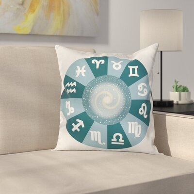 Astrology Zodiac Universe Signs Square Pillow Cover Size: 20 x 20