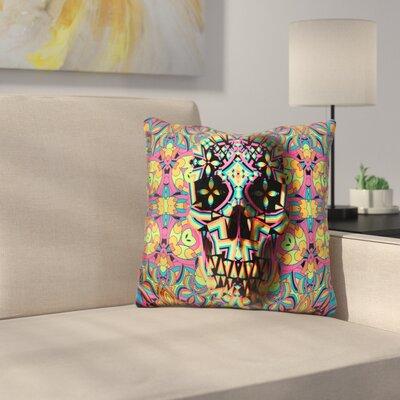 Skull Geo Throw Pillow