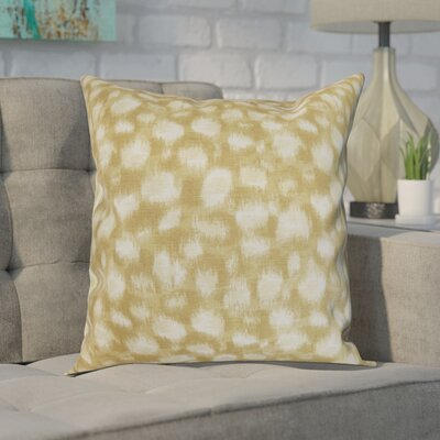 Kibby Cotton Throw Pillow Color: Sand, Size: 18x18