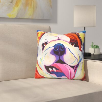 Bully Grin Throw Pillow