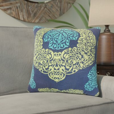 Roselyn Geometric Cotton Throw Pillow Color: Turquoise