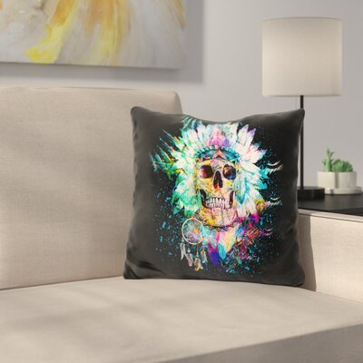 Skull Wild Spirit Throw Pillow