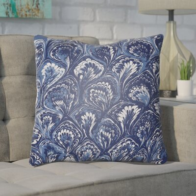 Maidstone Throw Pillow Size: 18 H x 18 W x 4 D, Color: Blue