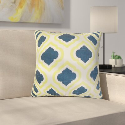 Camile Geometric Cotton Throw Pillow Color: Yellow Blue, Size: 18 x 18