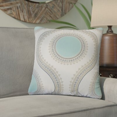 Gwendolyn Graphic Cotton Throw Pillow Color: Turquoise