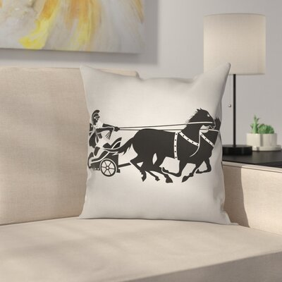 Chariot Gladiator Square Cushion Pillow Cover Size: 18 x 18