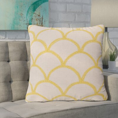 Clarklake Oval Throw Pillow Size: 18 H x 18 W x 4 D, Color: Sunflower, Filler: Down