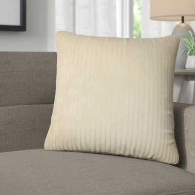 Galilea Solid Throw Pillow Color: Taupe