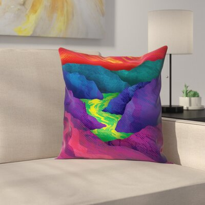 Joe Van Wetering Up Stream Throw Pillow Size: 18