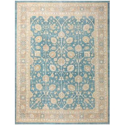 Pak Tabriz Hand-Knotted Wool Beige/Blue Area Rug