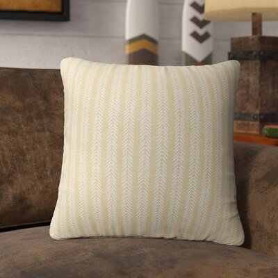 Couturier Striped Square Throw Pillow (Set of 16) Color: Cream, Size: 18 H x 18 W