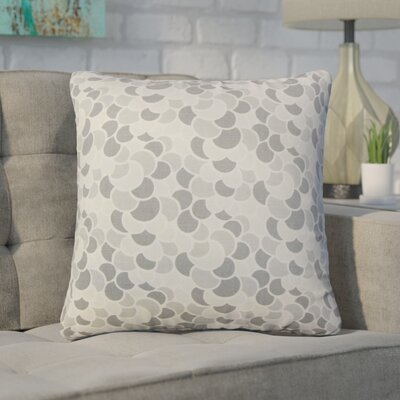 Basinger Geometric Cotton Throw Pillow Color: Pewter