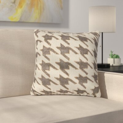 Montalto Houndstooth 100% Cotton Throw Pillow