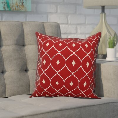 Cedric Diamond Throw Pillow Color: Red Teal, Size: 16 x 16, Type: Lumbar Pillow