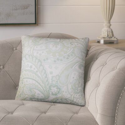 Dolbeau Floral Cotton Throw Pillow Color: Green