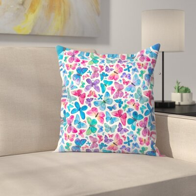 Elena O'Neill Butterflies Throw Pillow Size: 16