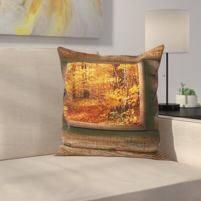 Fall Decor View from Cottage Square Pillow Cover Size: 24 x 24