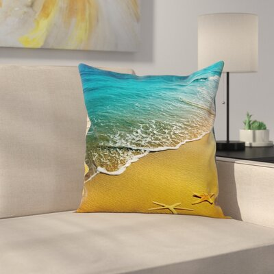 Caribbean Indian Ocean Square Pillow Cover Size: 16