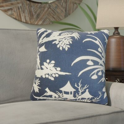 Ashleaf Floral Linen Throw Pillow