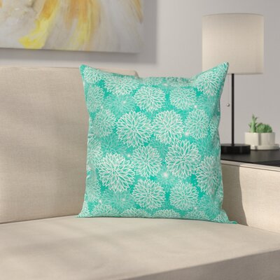 Drawing Dahlia Figures Square Pillow Cover Size: 24 x 24