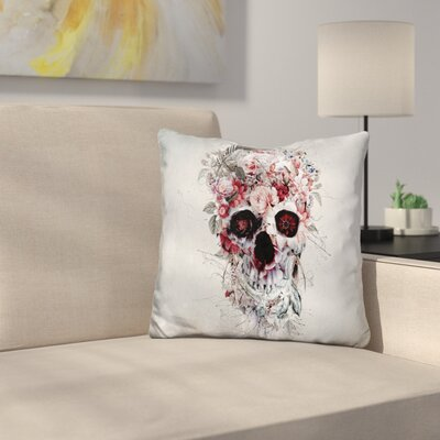 Floral Skull Rpe Throw Pillow