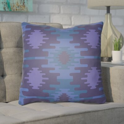 Adamson Square Throw Pillow Size: 20 H x 20 W x 3.5 D, Color: Bright Blue