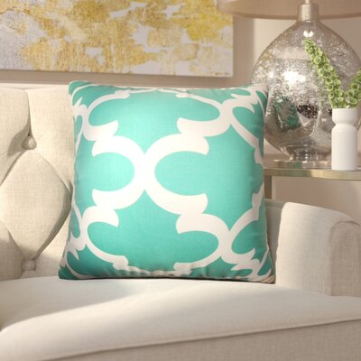 Chitwood Geometric Cotton Throw Pillow Color: Green