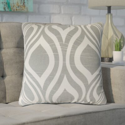 Wolff Geometric Cotton Throw Pillow Color: Ash