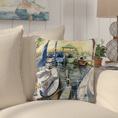 Lamonte Sailboats Square Indoor/Outdoor Throw Pillow Size: 18 H x 18 W x 5.5 D