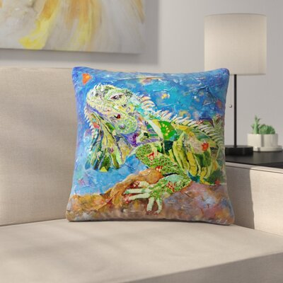 Sunshine Taylor Iguana Indoor/Outdoor Throw Pillow Size: 14 x 14